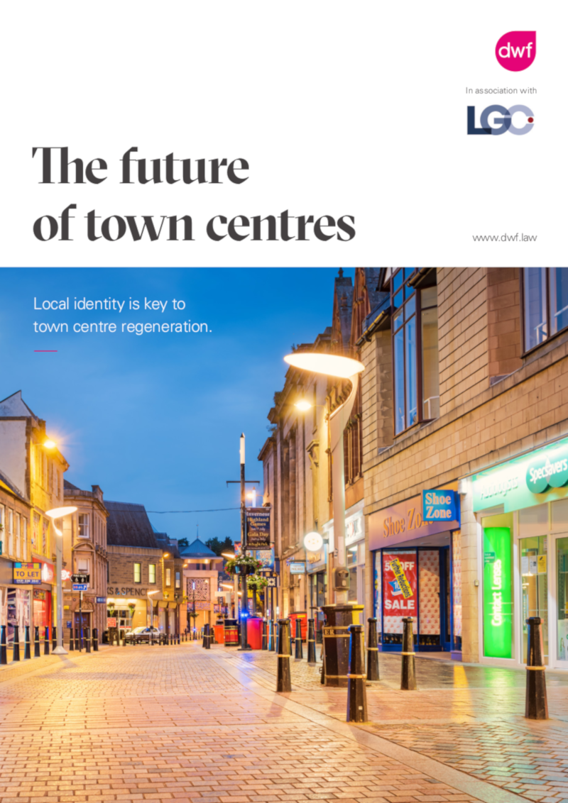 Town centre report front cover